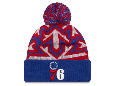 Philadelphia 76ers New Era NBA Glowflake Cuff Knit