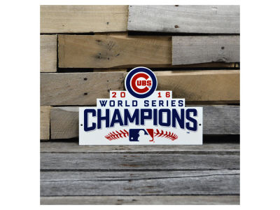 "Chicago Cubs Authentic Street Signs 12"" Steel Logo Sign"