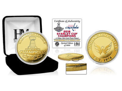 Washington Capitals Highland Mint 2018 NHL Stanley Cup Champ Gold Mint Coin