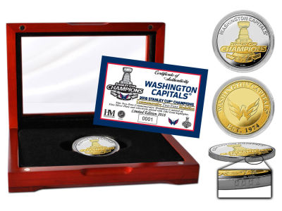 Washington Capitals Highland Mint 2018 NHL Stanley Cup Champs 2-Tone Mint Coin