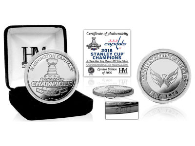 Washington Capitals Highland Mint 2018 NHL Stanley Cup Champ Silver Mint Coin