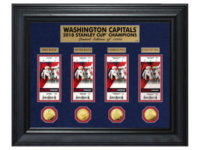 Washington Capitals Highland Mint 2018 NHL Stanley Cup Champ Gold Coin & Ticket Collection