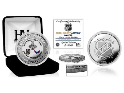 Washington Capitals Highland Mint 2018 NHL Stanley Cup Final Champs Victory Silver Color Coin