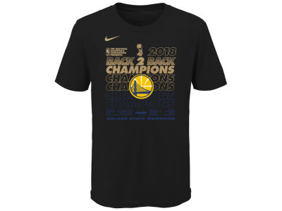 Golden State Warriors Nike 2018 NBA Youth Champ Locker Room T-Shirt