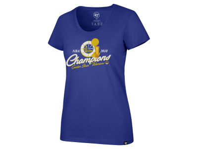 Golden State Warriors '47 2018 NBA Women's Champ Trophy T-Shirt