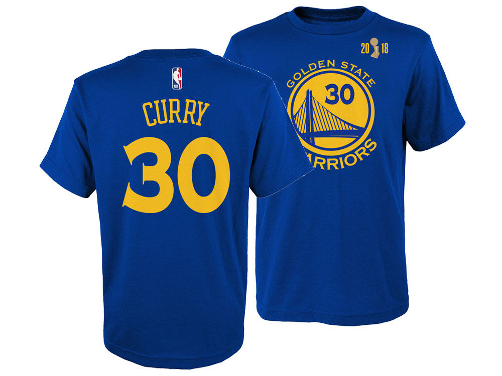 0164c3a0c Golden State Warriors Stephen Curry Outerstuff 2018 NBA Youth Finals Champ  Player T-Shirt
