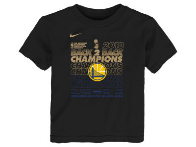 Golden State Warriors Nike 2018 NBA Toddler Champ Locker Room T-Shirt