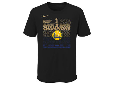 Golden State Warriors Nike 2018 NBA Kids Champ Locker Room T-Shirt