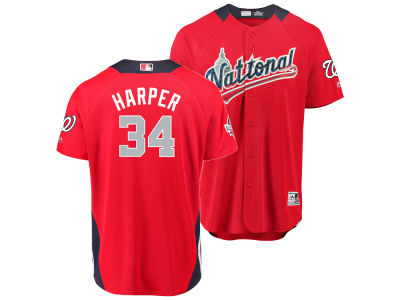 Washington Nationals Bryce Harper 2018 MLB Men's All Star Game Home Run Derby Jersey