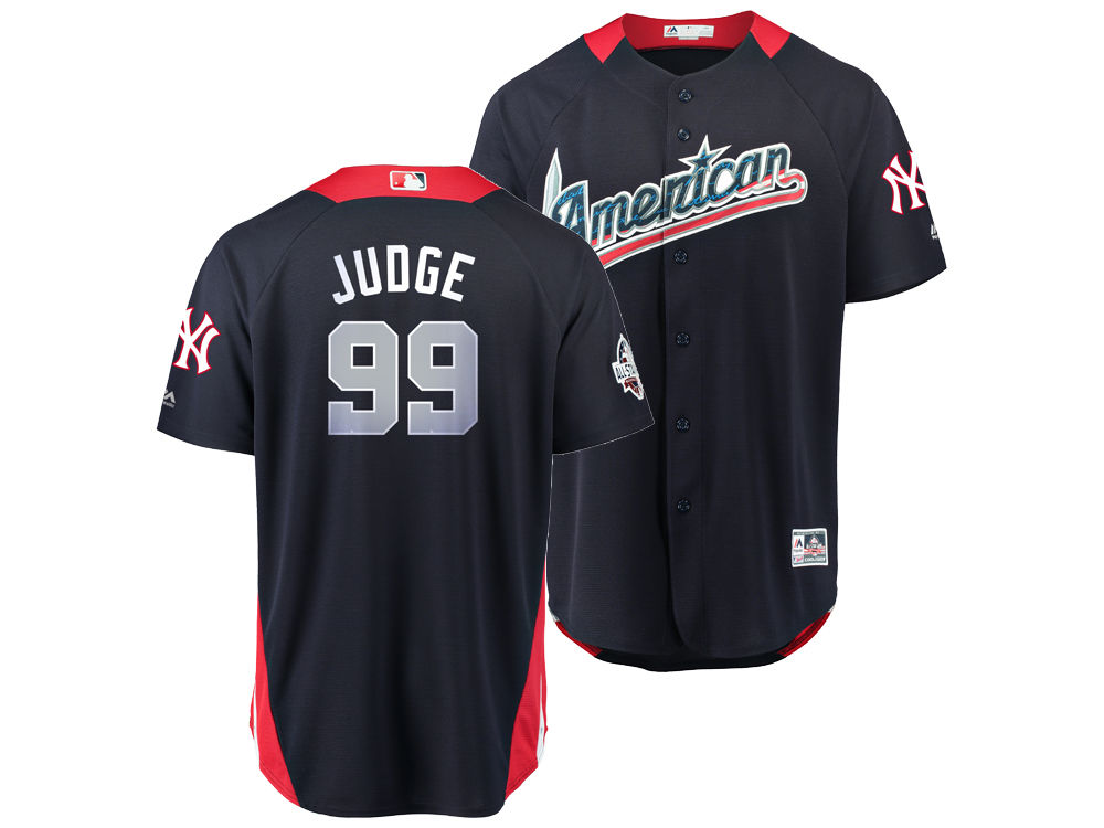 0754a027c New York Yankees Aaron Judge Majestic 2018 MLB Men s All Star Game Home Run  Derby Jersey