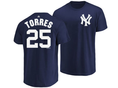 New York Yankees Gleyber Torres Majestic MLB Men's Official Player T-Shirt
