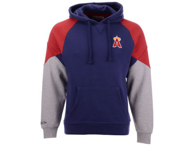 Los Angeles Angels Mitchell & Ness MLB Men's Trading Block Hoodie
