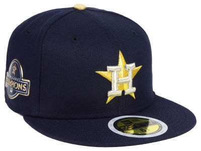 Houston Astros New Era 2017 MLB Kids World Series Commemorative Gold 59FIFTY Cap