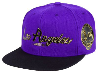 Los Angeles Lakers Mitchell & Ness NBA City Champs Snapback Cap