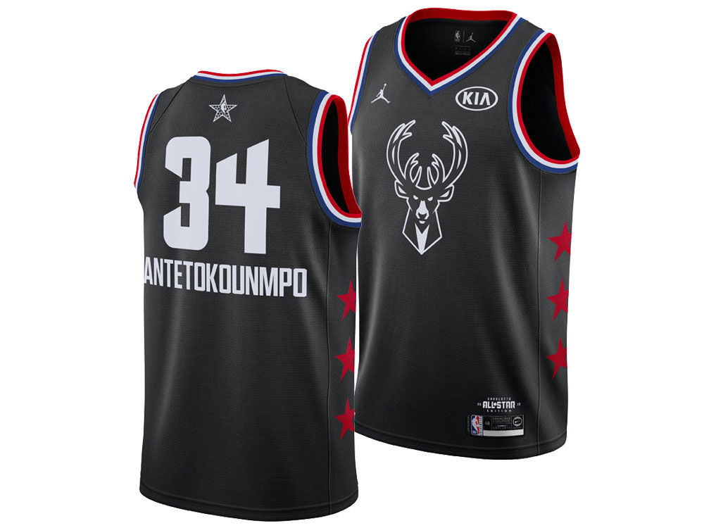 09af951dd Milwaukee Bucks Giannis Antetokounmpo Jordan 2019 NBA Men s All-Star Swingman  Jersey