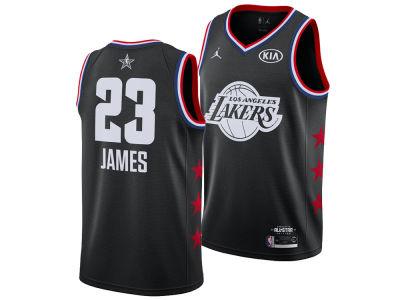 Los Angeles Lakers LeBron James Jordan 2019 NBA Men s All-Star Swingman  Jersey 5c285a846