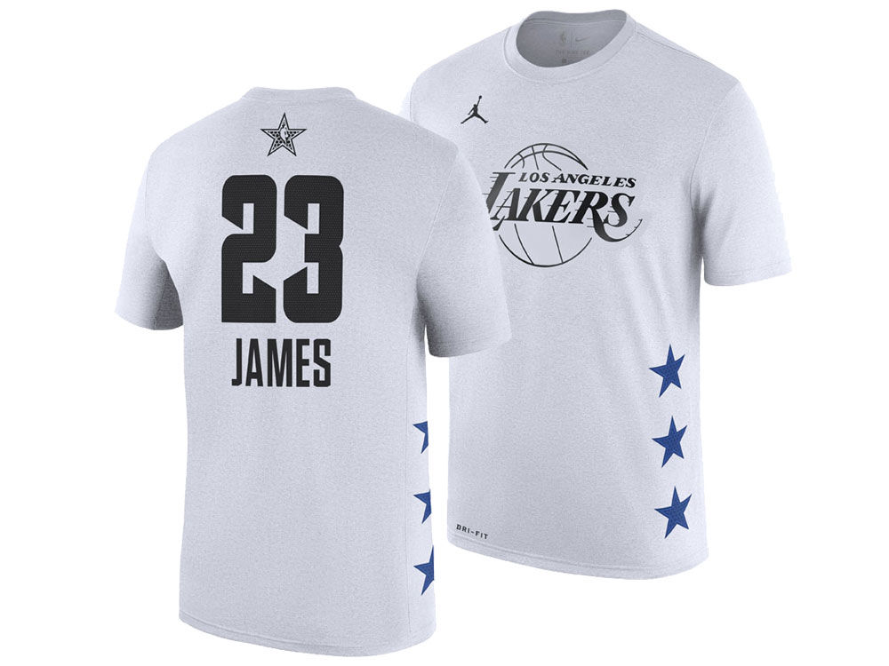 Los Angeles Lakers LeBron James Jordan 2019 NBA Men s All-Star Player T- Shirt  0f630e811