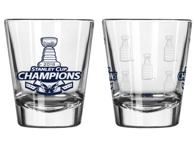 Washington Capitals 2oz Satin Etch Shot Glass - 2018 NBA Finals Champ
