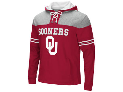 Oklahoma Sooners Colosseum NCAA Men's Ice Hockey Pullover Hooded Sweatshirt