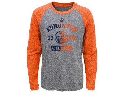 Edmonton Oilers NHL Youth Utility Raglan Long Sleeve T-Shirt 1a9c20593