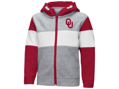 Oklahoma Sooners Colosseum NCAA Toddler Colorblocked Full Zip Sweatshirt