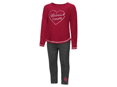 Oklahoma Sooners Colosseum NCAA Toddler Girls Legging Set