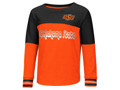 Oklahoma State Cowboys Colosseum NCAA Toddler Girls Colorblocked Long Sleeve T-Shirt