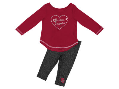 Oklahoma Sooners Colosseum NCAA Newborn Girls Legging Set