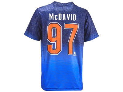 Edmonton Oilers Connor McDavid NHL Youth Player Action Synthetic T-Shirt