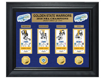 Golden State Warriors Highland Mint 2018 NBA Finals Champ Gold Coin & Ticket Collection