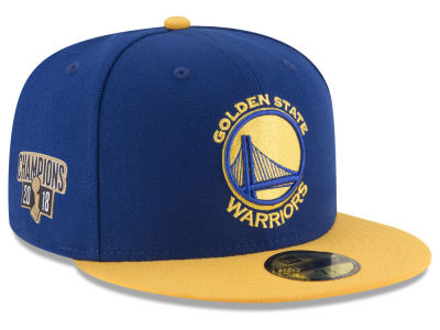 Golden State Warriors New Era 2018 NBA Finals Champ Side Patch 59FIFTY Cap