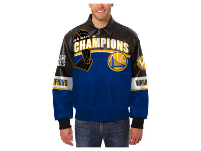 Golden State Warriors JH Design NBA Men's All Leather Jacket