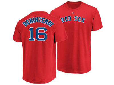 Boston Red Sox Andrew Benintendi Majestic MLB Men's Official Player T-Shirt