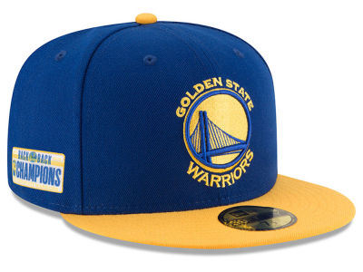 Golden State Warriors New Era 2018 NBA Champ Back 2 Back 59FIFTY Cap
