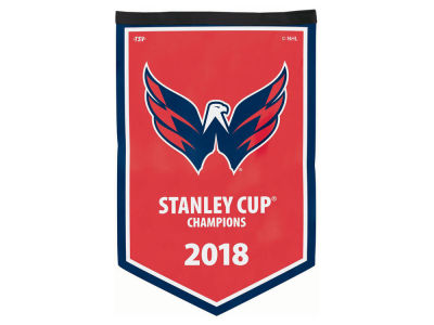 Washington Capitals 2018 NHL Stanley Cup Victory Banner - Soft Felt
