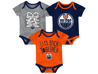 NHL Infant Five on Three 3 Pack Creeper Set