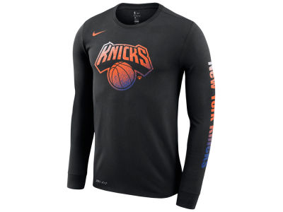 New York Knicks Nike NBA Men s Dry Mezzo Logo Long Sleeve T-Shirt c9b5b7fc3