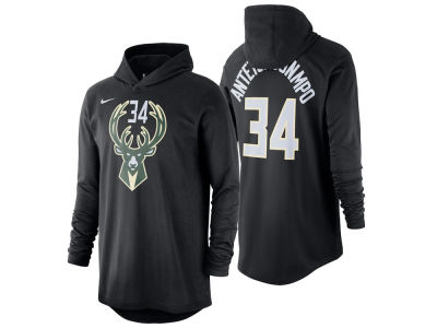 Milwaukee Bucks Giannis Antetokounmpo Nike NBA Men s Hooded Player Name and  Number Long Sleeve T- 38515e24cf5