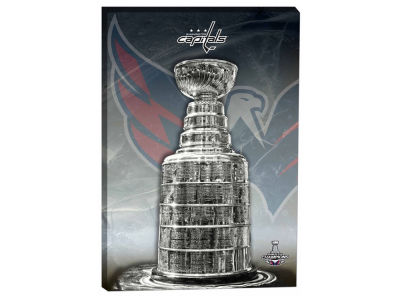 Washington Capitals Frameworth NHL Stanley Cup Logo Canvas - 20x29