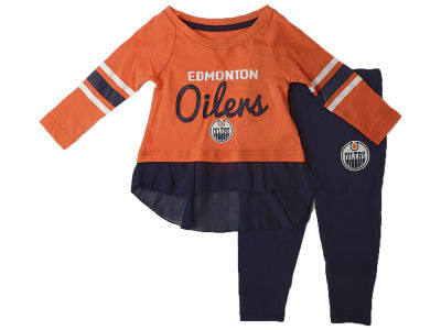 Edmonton Oilers NHL Infant Girls Show Off Long Sleeve Top and Pant Set