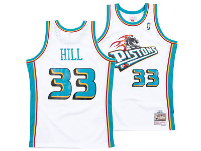 Detroit Pistons Grant Hill Mitchell & Ness NBA Men's Hardwood Classic Swingman Jersey