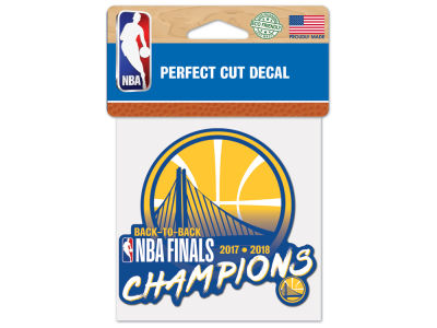 Golden State Warriors Wincraft Die Cut Decal 4x4 - Color - 2018 NBA Finals Champ