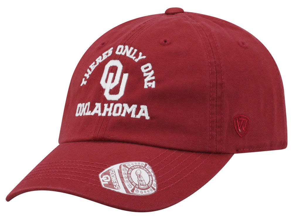 new products 519ce dfb7a ... shop oklahoma sooners top of the world ncaa theres only one crew adjustable  cap bea6f cd91f