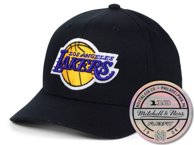 Los Angeles Lakers Mitchell & Ness NBA HWC 110 Flexfit Snapback Cap