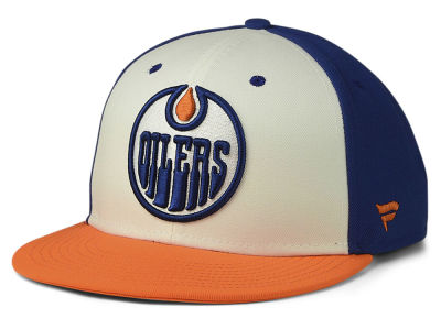 Edmonton Oilers NHL Tri-Colour Throwback Snapback Cap 07cbefa4c5d