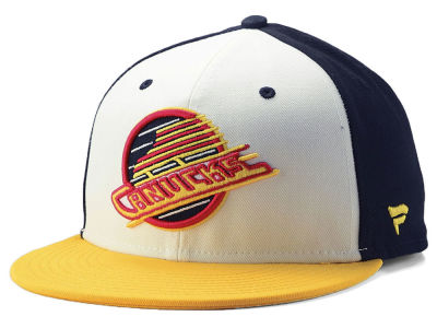 71263b30b42 Vancouver Canucks NHL Tri-Colour Throwback Snapback Cap