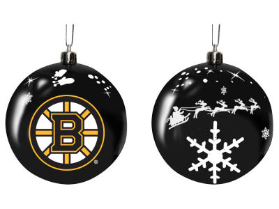 "Boston Bruins Memory Company 3"" Sled Glass Ball Ornament"