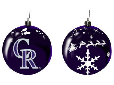 "Colorado Rockies Memory Company 3"" Sled Glass Ball Ornament"