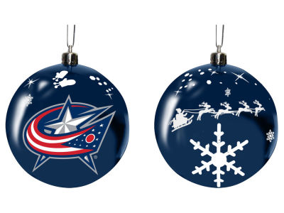 "Columbus Blue Jackets Memory Company 3"" Sled Glass Ball Ornament"