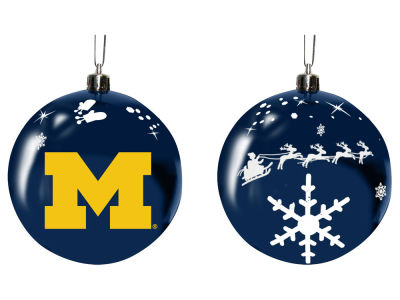 "Michigan Wolverines Memory Company 3"" Sled Glass Ball Ornament"